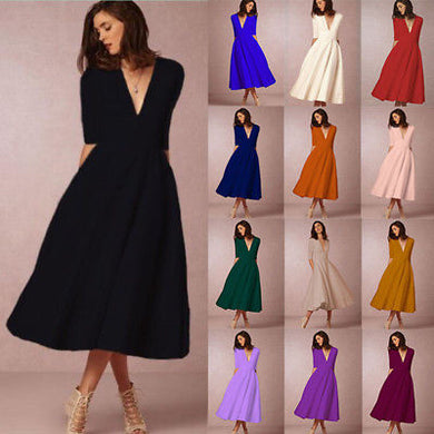 Wholesale Women's Vintage Evening Swing Dress