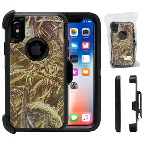 Iphone Camo Heavy Duty Life Proof Built-in Screen Protector and Belt Clip Defender Cases Mix Colors - All Models