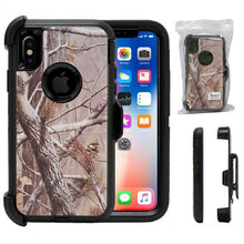 Load image into Gallery viewer, Iphone Camo Heavy Duty Life Proof Built-in Screen Protector and Belt Clip Defender Cases Mix Colors - All Models