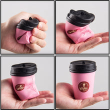 Load image into Gallery viewer, Wholesale Jumbo Pink Coffee Cup Squishy Slow Rising Sweet Scented - 11 cm