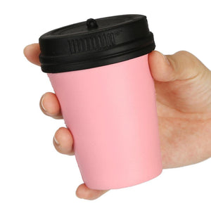 Wholesale Jumbo Pink Coffee Cup Squishy Slow Rising Sweet Scented - 11 cm