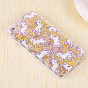 Floating Glitter Unicorn Phone Case
