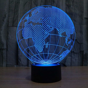 3D Globe Illusion Led Lamps