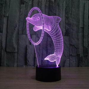 3D Dolphin Illusion Led Lamps
