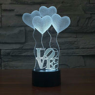 3D Love Illusion Led Lamps