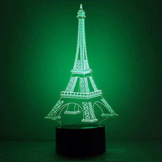 3D Eiffel Tower Illusion Led Lamps