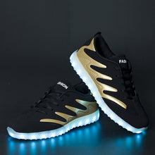 Load image into Gallery viewer, New Light Up Led Shoes - Gold