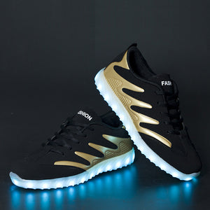 New Light Up Led Shoes - Gold