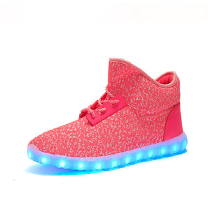 High Top Yeezy Led Shoes - Pink