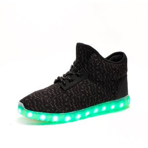 High Top Yeezy Led Shoes - Black