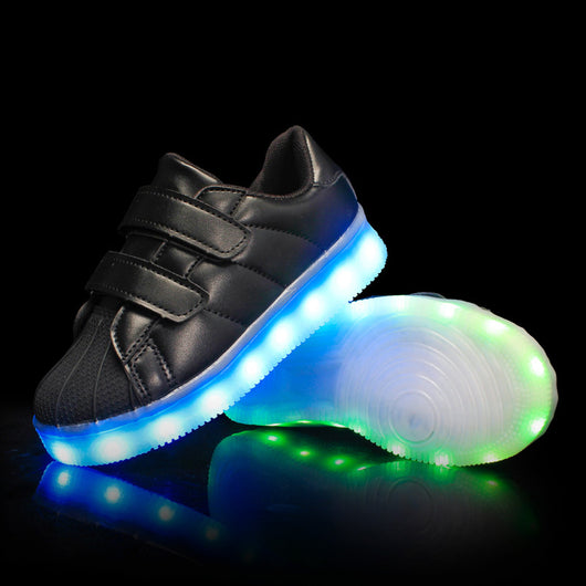 New Arrival Kids Light Up Led Shoes - Black