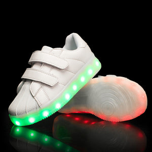New Arrival Kids Light Up Led Shoes - White
