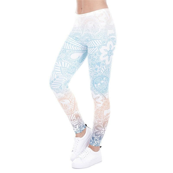 3d Mandala Pastel Leggings