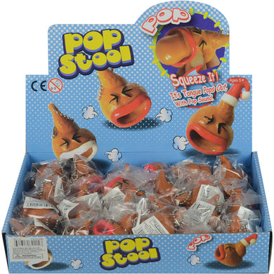 Wholesale Poop Keychain with Pop-Out Tongue (24 pcs)