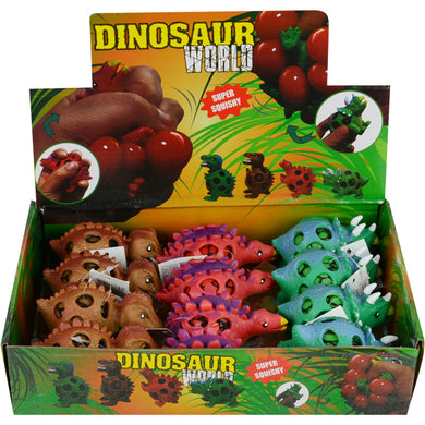 Wholesale Squeeze 4in Dinosaur Mesh Ball with Gel Inside (12 pcs)