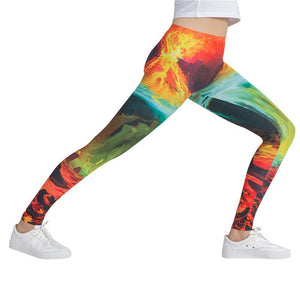 Fire Multi-Color Fashion Leggings