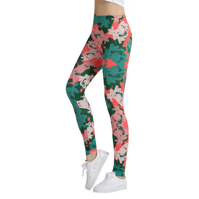 Pink And Green Painting Fashion Leggings