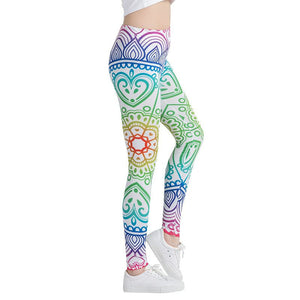 Green Painting Stylish Leggings
