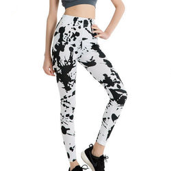 Black And White Painting Stylish Leggings