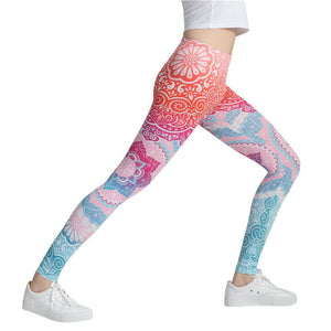 Pink Multi-Color Fashion Leggings