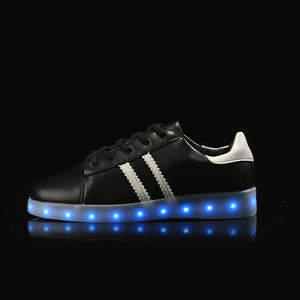 Led Tennis Shoes - Black