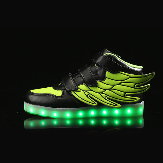 Flying Kids Led Shoes - Green