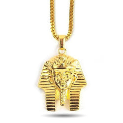 18K Pharaoh Head Necklace