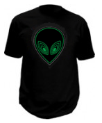 Sound Activated Alien Led T-Shirt