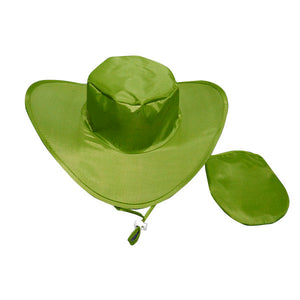 Twist and Fold Sun Hats - Lime Green