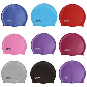 Wholesale Swimming Cap Waterproof Unisex Premium Earmuffs Silicone No-Slip Swimming Cap