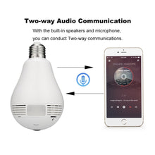 Wireless 360 Wide Angle Light Bulb Hidden Spy Camera 1.3MP HD Wifi Security Camera