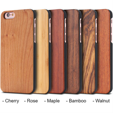 Natural Blank Wood Bamboo Case Hard Back Cell Phone Case Luxury Customizable Wooden Cover For Iphones and Samsungs