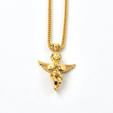 18K Micro Angel Piece Necklace