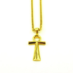 18K Micro Ankh Piece Necklace