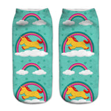 Unisex 3D Blue Unicorn Printed Socks