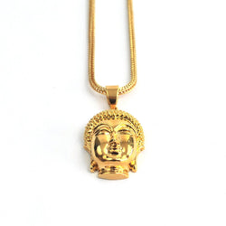 18K Micro Buddha Head Piece