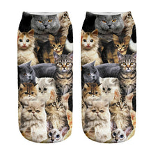 Unisex 3D Cat Family Printed Socks - 6 Pack