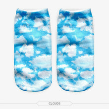 Unisex 3D Clouds Printed Socks - 6 Pack