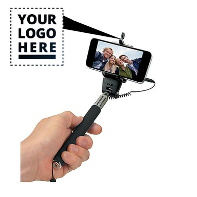 Popular Custom Logo Selfie Sticks With Cable
