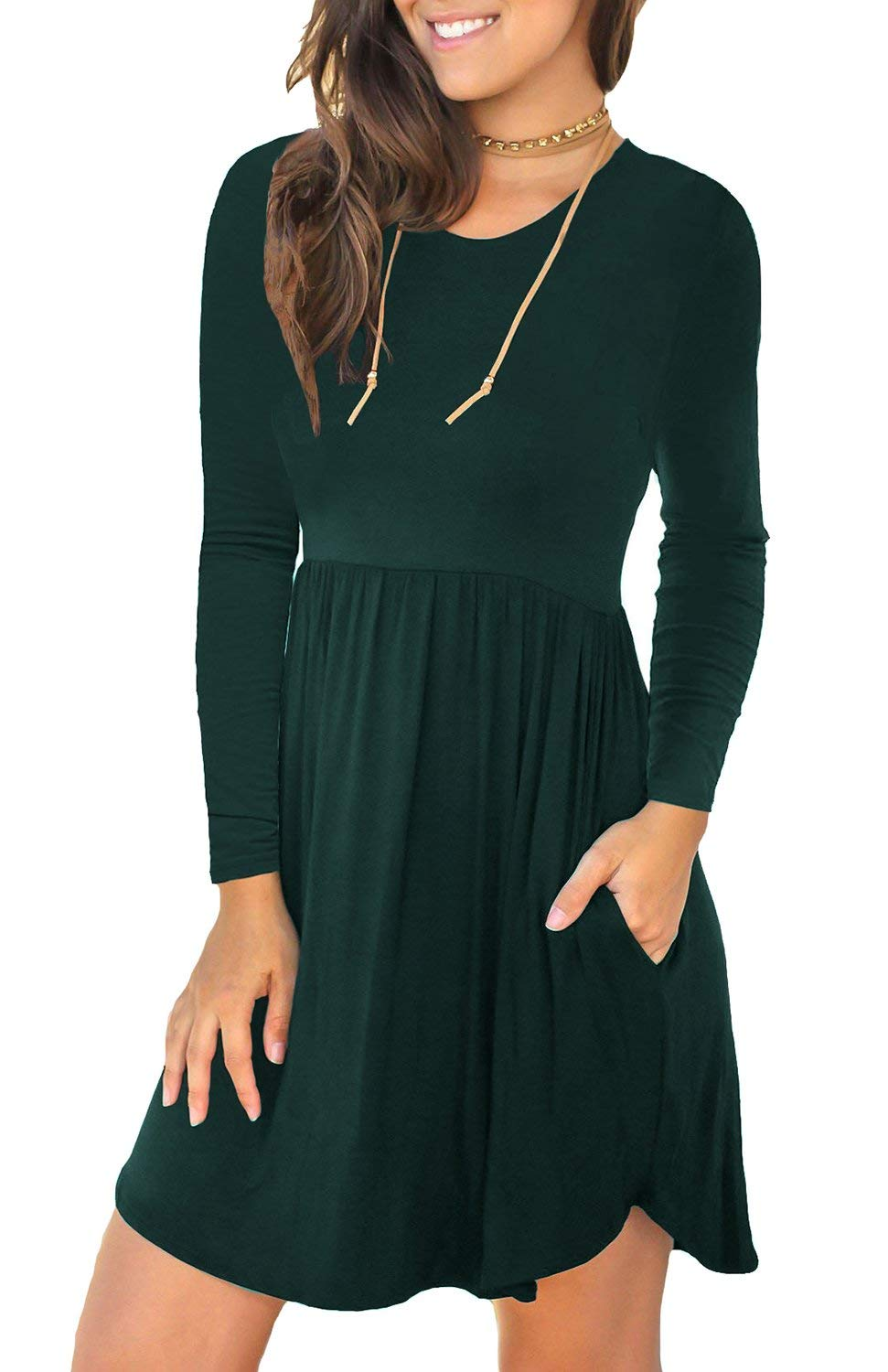 Casual Short Dress with Sleeves