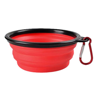 red pet bowl