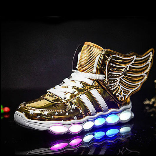 New Flying Led Shoes - Gold