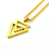 18K Gold Dual Arrow Piece Necklace