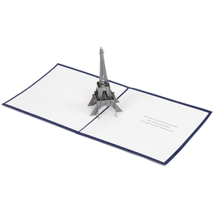 Silver Eiffel Tower Pop Card