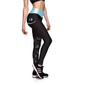 Secret Green Eyes Printed Stylish Leggings
