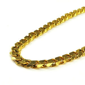 Stainless Steel Flat Edge Cuban Link Chains