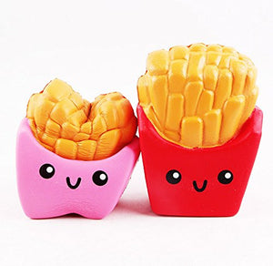 Wholesale Jumbo French Fries Squishy Slow Rising Sweet Scented - 10 cm