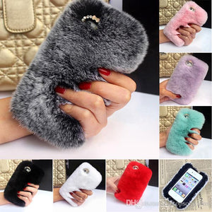 Popular Soft Stylish Fur Phone Cases Mix Colors - All Models