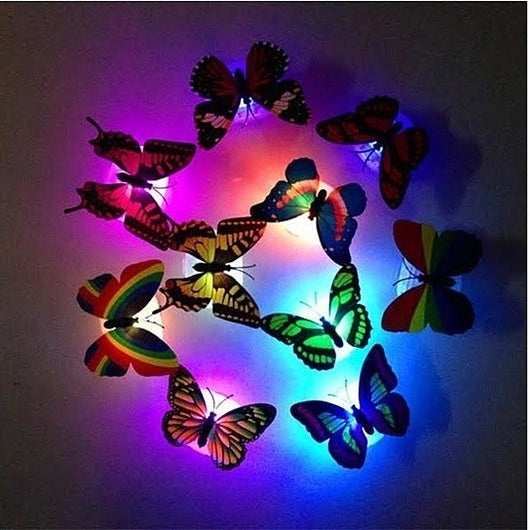 Sticker LED Butterfly for Home Decoration