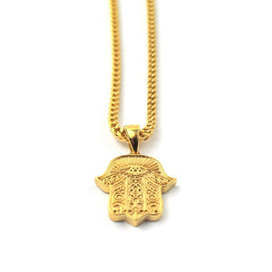 PVD 18K Hamsa Hand Piece Necklace